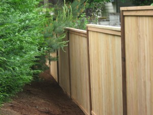159 picture frame cap & trim privacy fence, Stayton, Oregon
