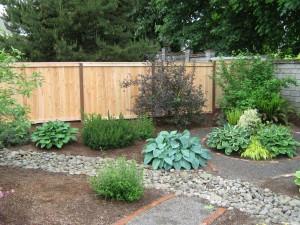 158 picture frame cap & trim privacy fence, Stayton, Oregon