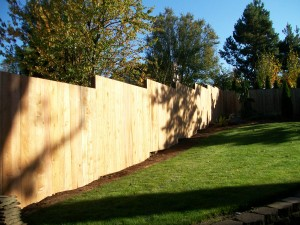 156 Solid one side, stair stepped fence, Salem, Oregon