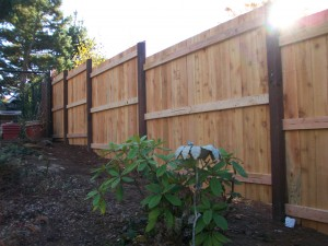 155 Solid one side, stair stepped fence, Salem, Oregon