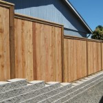 153 privacy cap & trim on retaining wall, McMinnville, Oregon