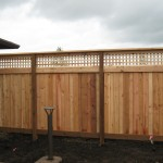 152 Lattice solid one side fence with cap, Lebanon, Oregon