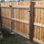 163 After fence, interior gate frame, Salem, Oregon