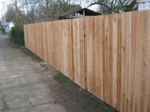 162 After fence with gate, solid one side privacy, Salem, Oregon