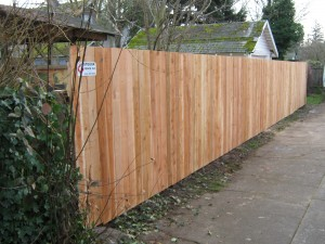 61 After photo, Solid one side privacy fence, Salem, Oregon