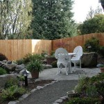 164 Dog-eared privacy one sided wood fence