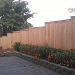 149 privacy wood cap & trim fence