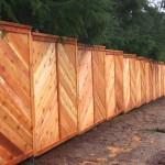 148 Custom wood fence, privacy cap & trim