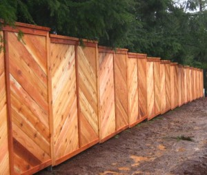 148 Custom wood fence, privacy cap & trim