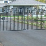 139 custom entry gate with keypad