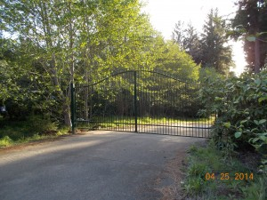130 Design D-3 ornamental iron gate with gate operator, Florence, Oregon