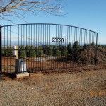 129 Custom ornamental iron gate & gate operator