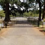 128 ornamental iron gate with gate operator, Silverton, Oregon