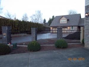 125 Design C-2 ornamental iron fence, Salem, Oregon
