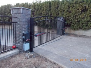 124 Design C-2 ornamental iron gate with gate operator