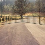 138 ornamental iron barrier gate