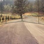 138 ornamental iron barrier gate