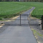 135 custom ornamental iron gate with operator