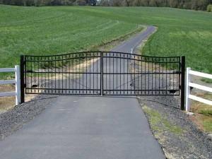135 custom ornamental iron gate with operator