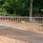 134 ornamental iron barrier arm gate
