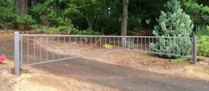 134 ornamental iron barrier arm gate