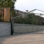 144 Design H-1 ornamental iron entry gate