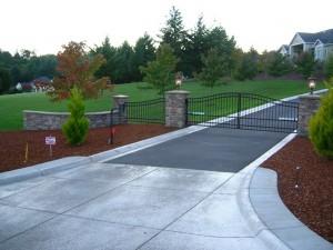 132 ornamental iron fence & matching gate