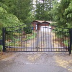 122 Design E-2 ornamental iron fence and entry gate with gate operator