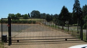 120 Design K-1 ornamental iron entry gate with gate operator