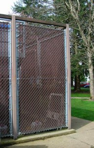 111 Pre slat chain link fence enclosure 75% privacy