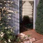 109 custom ornamental iron walk gate