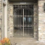 102 Custom ornamental iron entry gate