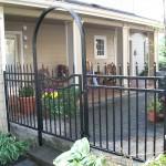 77 Ornamental iron fence and walk gate, Dallas, Oregon