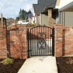 76 custom ornamental iron walk gate, Salem, Oregon