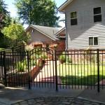 75 Ornamental Iron Fence with Walk Gate, Newport, Oregon