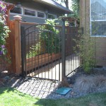 74 Ornamental Iron walk gate, Salem, Oregon