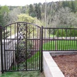 98 custom ornamental fence and walk gate