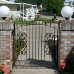 108 custom ornamental iron walk gate
