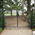 97 ornamental fence and entry gate