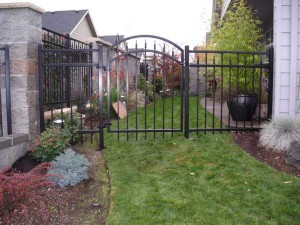 96 ornamental iron fence and walk gate