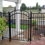 95 ornamental iron fence and walk gate