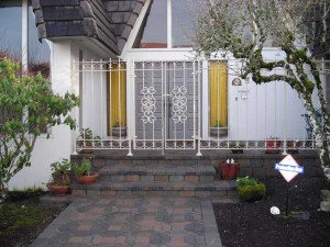 92 custom ornamental fence and entry gate