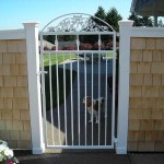 91 custom ornamental white gate
