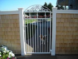 91 custom ornamental white gate