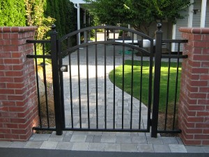 90 ornamental iron walk gate