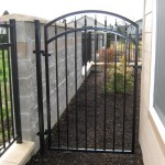 89 ornamental iron gate with matching fence
