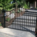 87 ornamental fence and walk gate