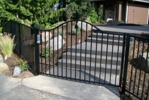 87 ornamental fence and walk gate