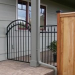 86 ornamental walk gate w/cap & trim wood fence with decorative caps