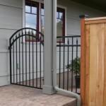 86 ornamental walk gate w/cap & trim wood fence with decorative caps